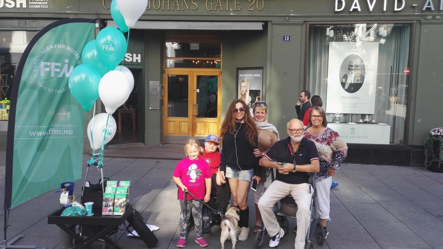 7. september 2016 – Markering av verdensdagen for Duchenne med ballonger, kurs og artikkel
