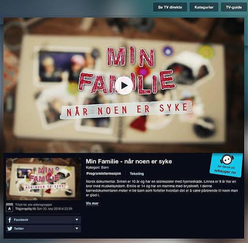 Barnefilmen «Min familie – når noen er syke» kan sees på nett
