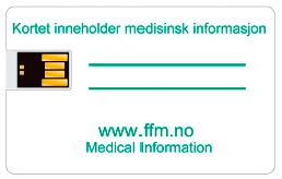 Diagnosekort med minnepinne