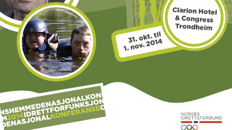 Nasjonal konferanse om idrett for funksjonshemmede i Trondheim 31. oktober til 1. november 2014.