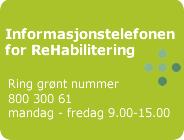 Ny informasjonstelefon om rehabilitering og habilitering