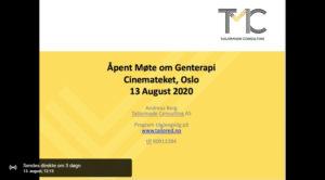 Åpent informasjonsmøte om Medisinsk Genterapi på streaming 13.august 12.30-14.00
